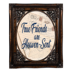 True Friends Oval Amber 8 x 10  Oval Wall And Tabletop Photo Frame