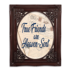 True Friends Oval Mahogny 8 x 10  Oval Wall And Tabletop Photo Frame