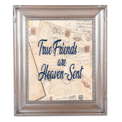 True Friends Silver Greybrush 8 x 10  Wall And Tabletop Photo Frame