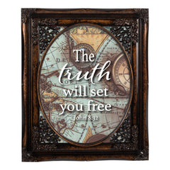 Truth Will Set Free Oval Amber 8 x 10  Oval Wall And Tabletop Photo Frame