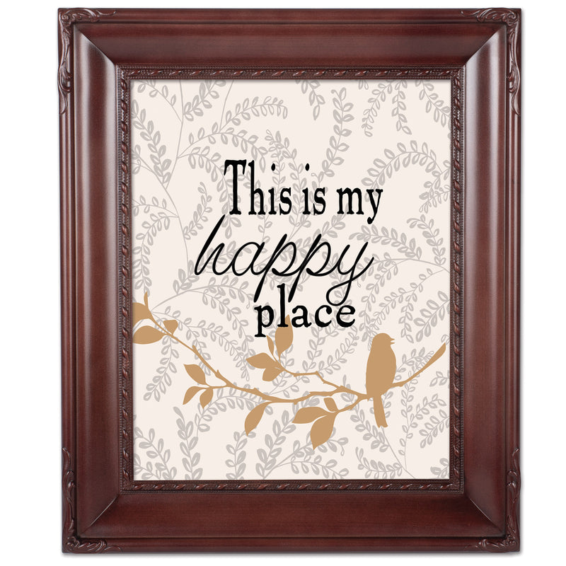 My Happy Place Mahogny 8 x 10  Wall And Tabletop Photo Frame