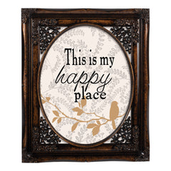 My Happy Place Oval Amber 8 x 10  Oval Wall And Tabletop Photo Frame