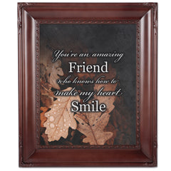 You're An Amazing Friend Mahogony 8 x 10 Rope Trim Wall And Tabletop Photo Photo Frame