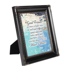Good Friends Heart to Heart Black Rope Trim 8 x 10 Table Top and Wall Photo Frame