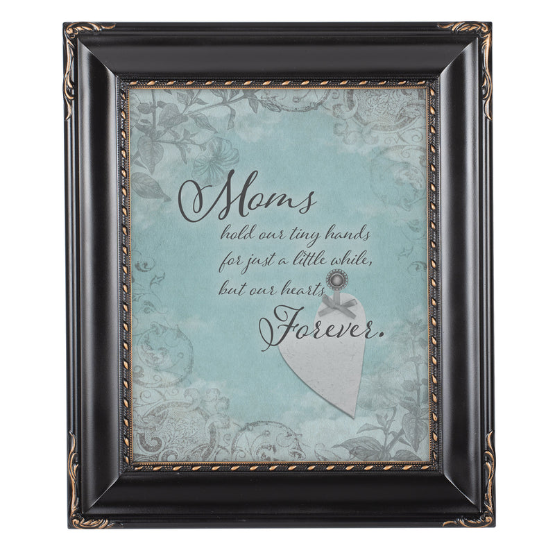 Mom Hold Our Hands Solid Black 8 x 10  Wall And Tabletop Photo Frame