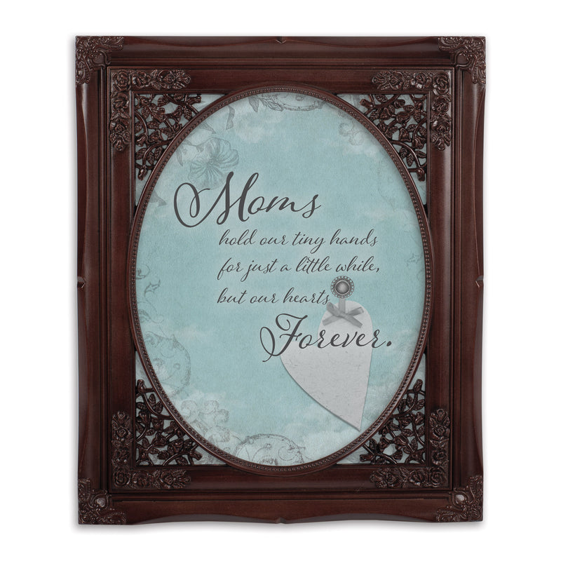 Mom Hold Our Hands Oval Mahogny 8 x 10  Oval Wall And Tabletop Photo Frame