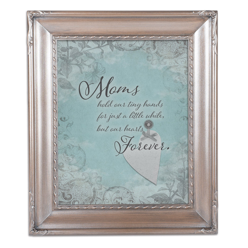 Mom Hold Our Hands Silver Greybrush 8 x 10  Wall And Tabletop Photo Frame