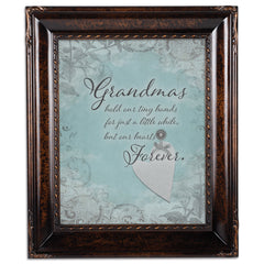 Grandma Hold Hands Amber  8 x 10  Wall And Tabletop Photo Frame