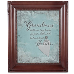 Grandma Hold Hands Mahogny 8 x 10  Wall And Tabletop Photo Frame