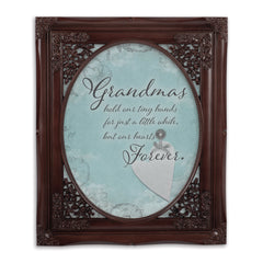 Grandma Hold Hands Oval Mahogny 8 x 10  Oval Wall And Tabletop Photo Frame