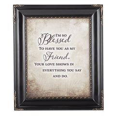 I Am So Blessed Solid Black 8 x 10  Wall And Tabletop Photo Frame