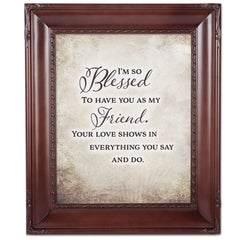 I Am So Blessed Mahogny 8 x 10  Wall And Tabletop Photo Frame