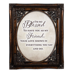 I Am So Blessed Oval Amber 8 x 10  Oval Wall And Tabletop Photo Frame