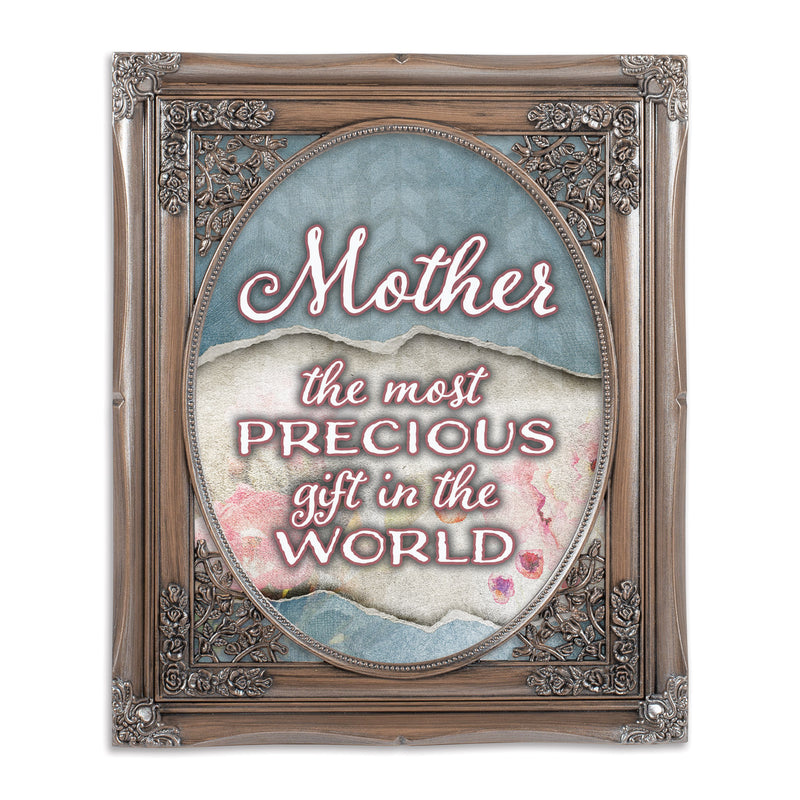 Mother Precious Gift Oval Silver Greybrush 8 x 10  Oval Wall And Tabletop Photo Frame