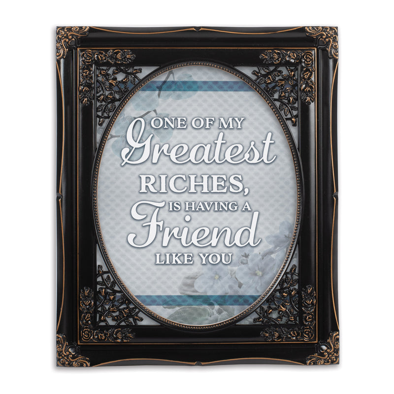 A Friend Like You Solid Black 8 x 10  Oval Wall And Tabletop Photo Frame