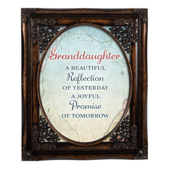 Granddaughter Beautiful Oval Amber 8 x 10  Oval Wall And Tabletop Photo Frame
