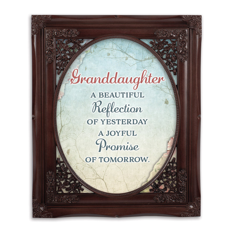 Granddaughter Beautiful Oval Mahogny 8 x 10  Oval Wall And Tabletop Photo Frame