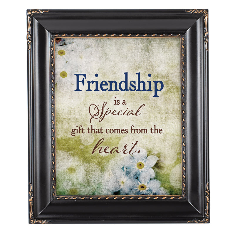 Friendship Gift Solid Black 8 x 10  Wall And Tabletop Photo Frame