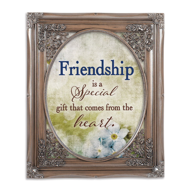 Friendship Gift Oval Silver Greybrush 8 x 10  Oval Wall And Tabletop Photo Frame