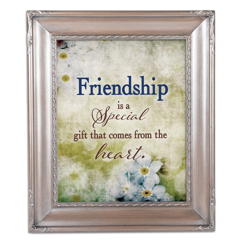 Friendship Gift Silver Greybrush 8 x 10  Wall And Tabletop Photo Frame