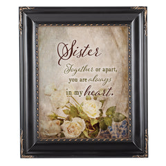 Sister Together  Solid Black 8 x 10  Wall And Tabletop Photo Frame