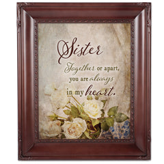Sister Together  Mahogny 8 x 10  Wall And Tabletop Photo Frame
