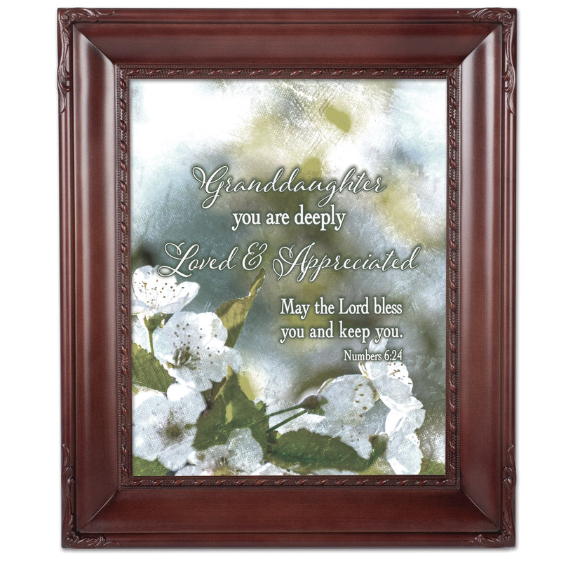 Granddaughter Loved Mahogny 8 x 10  Wall And Tabletop Photo Frame