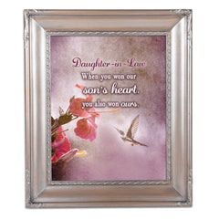 Daughter In Law Silver Greybrush 8 x 10  Wall And Tabletop Photo Frame