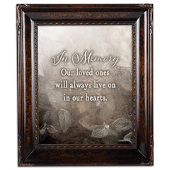 In Memory Loved Ones Amber  8 x 10  Wall And Tabletop Photo Frame