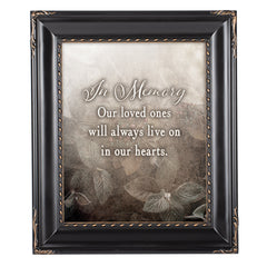 In Memory Loved Ones Solid Black 8 x 10  Wall And Tabletop Photo Frame