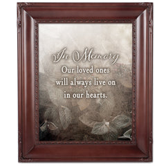 In Memory Loved Ones Mahogny 8 x 10  Wall And Tabletop Photo Frame