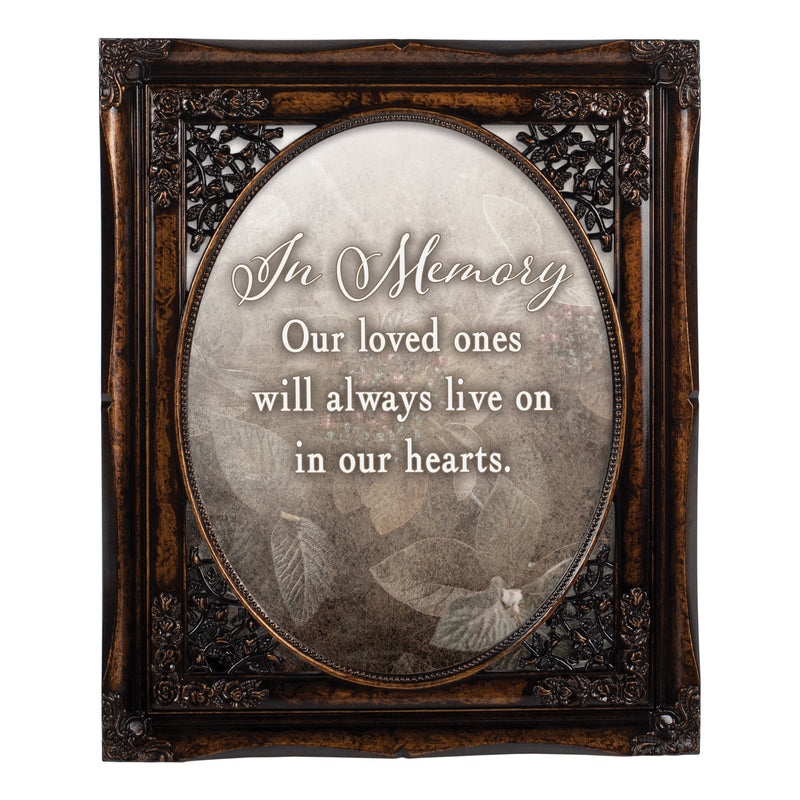In Memory Loved Ones Oval Amber 8 x 10  Oval Wall And Tabletop Photo Frame