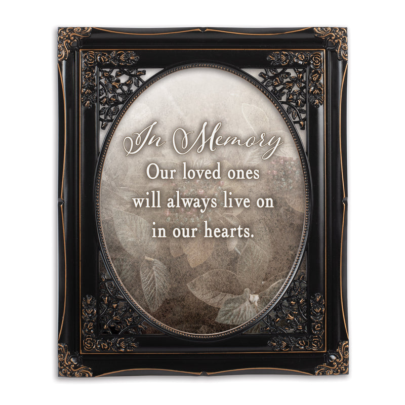 In Memory Loved Ones Solid Black 8 x 10  Oval Wall And Tabletop Photo Frame