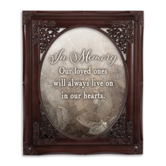 In Memory Loved Ones Oval Mahogny 8 x 10  Oval Wall And Tabletop Photo Frame