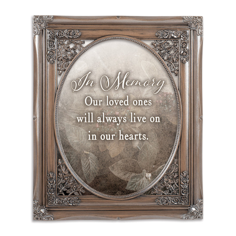 In Memory Loved Ones Oval Silver Greybrush 8 x 10  Oval Wall And Tabletop Photo Frame