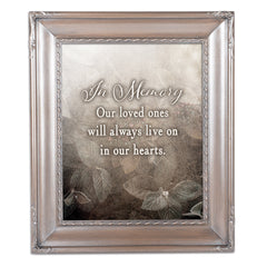 In Memory Loved Ones Silver Greybrush 8 x 10  Wall And Tabletop Photo Frame