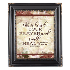 Prayer I Heal You Solid Black 8 x 10  Wall And Tabletop Photo Frame