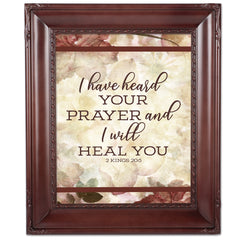 Prayer I Heal You Mahogny 8 x 10  Wall And Tabletop Photo Frame