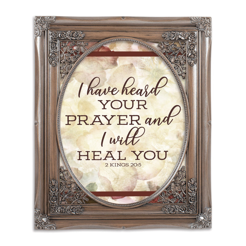 Prayer I Heal You Oval Silver Greybrush 8 x 10  Oval Wall And Tabletop Photo Frame