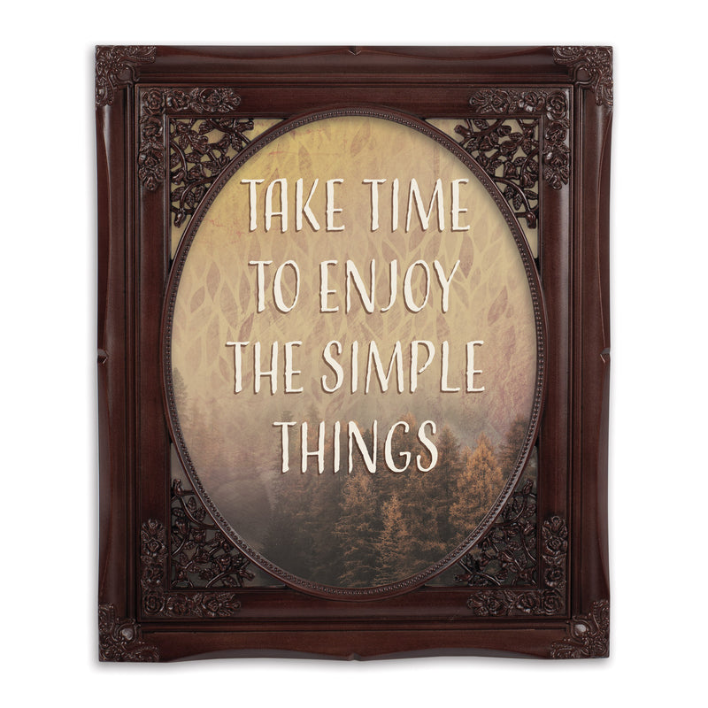 Enjoy Simple Things Oval Mahogny 8 x 10  Oval Wall And Tabletop Photo Frame