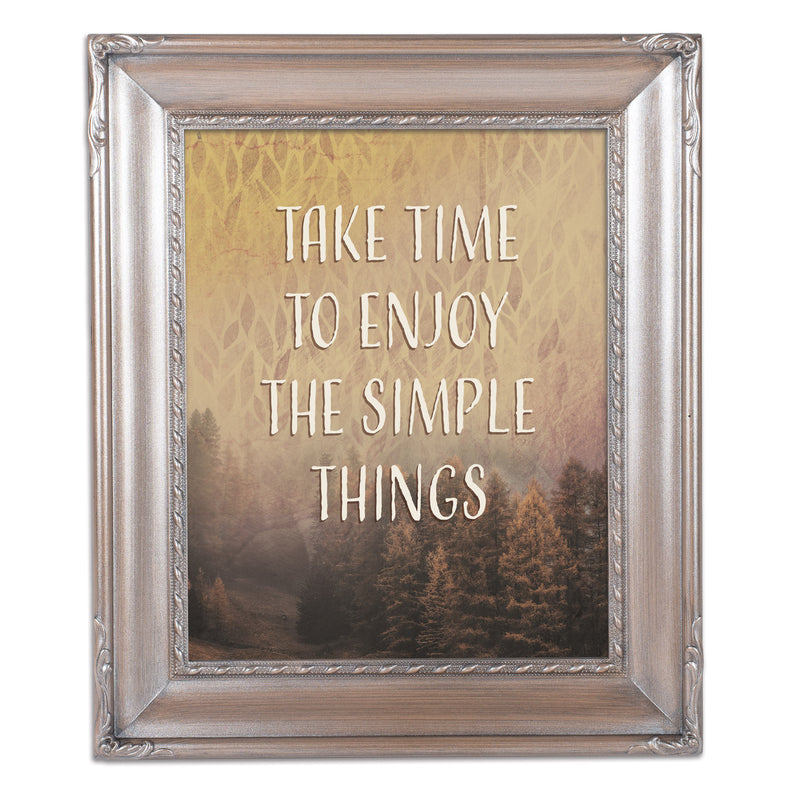 Enjoy Simple Things Silver Greybrush 8 x 10  Wall And Tabletop Photo Frame