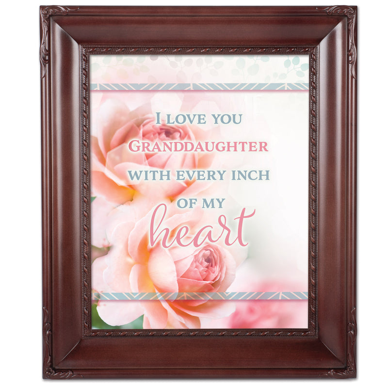 Love You Granddaughter Mahogny 8 x 10  Wall And Tabletop Photo Frame