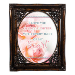 Love You Granddaughter Oval Amber 8 x 10  Oval Wall And Tabletop Photo Frame