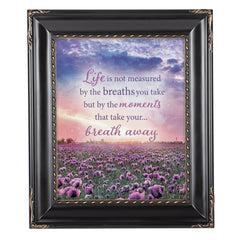 Life Not Measured Solid Black 8 x 10  Wall And Tabletop Photo Frame
