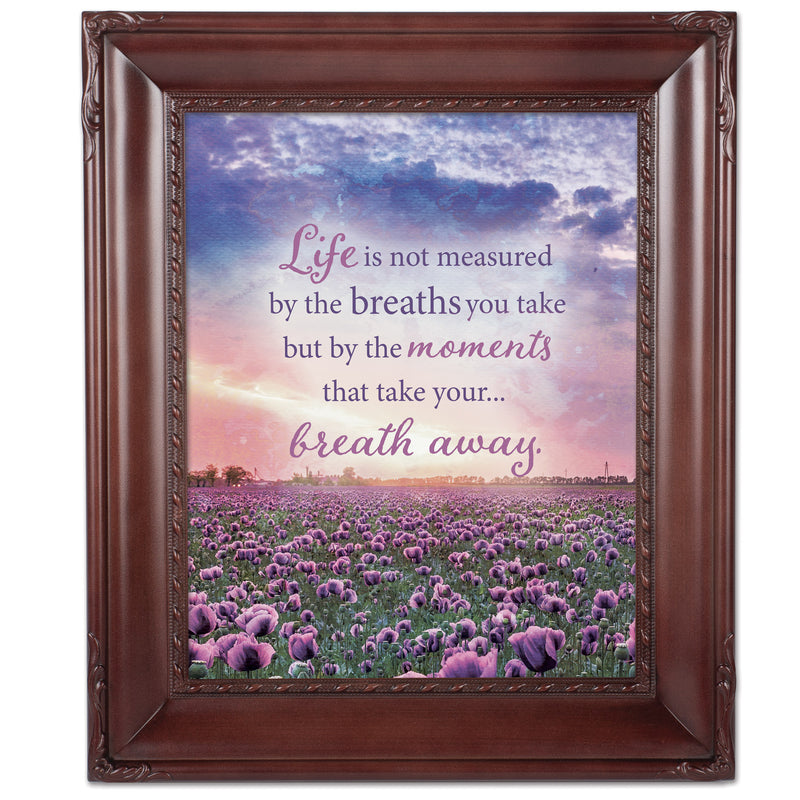 Life Not Measured Mahogny 8 x 10  Wall And Tabletop Photo Frame