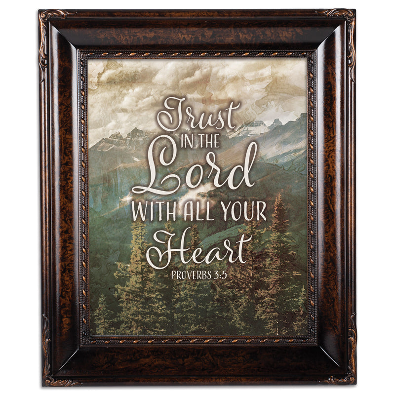 Trust In The Lord Amber  8 x 10  Wall And Tabletop Photo Frame