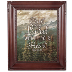 Trust In The Lord Mahogny 8 x 10  Wall And Tabletop Photo Frame