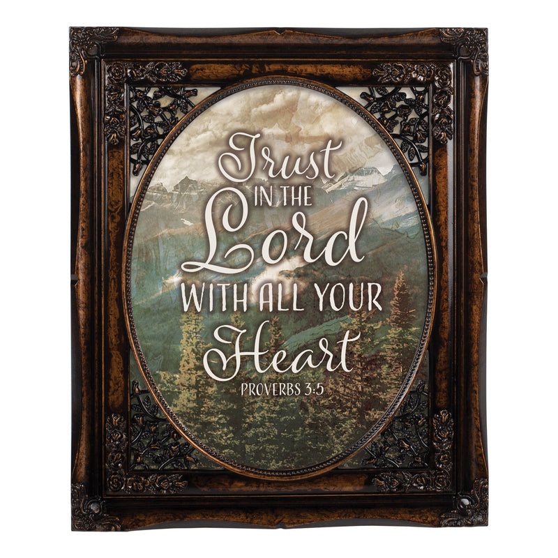 Trust In The Lord Oval Amber 8 x 10  Oval Wall And Tabletop Photo Frame