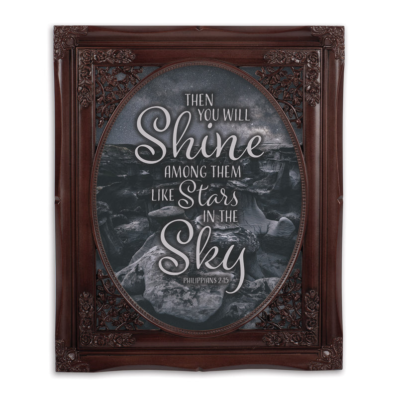 Stars In The Sky Oval Mahogny 8 x 10  Oval Wall And Tabletop Photo Frame