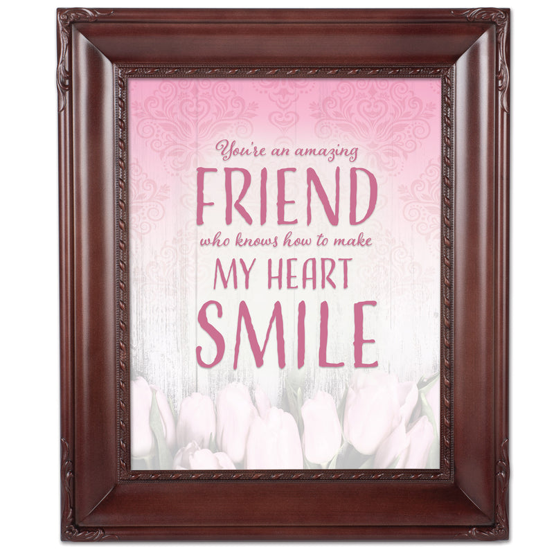 An Amazing Friend Mahogny 8 x 10  Wall And Tabletop Photo Frame